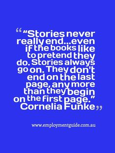 Quote about stories, from Cornelia Funke.