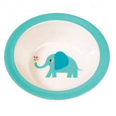 Rexinter Melamin tiefer Teller Elefant türkis