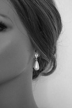 Braut Ohrringe Vintage inspirierte Perle Ohrringe von ORNENT