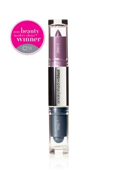 Cover girl shadow blast in purple/plum. I think shades of purple make any eye color look great.