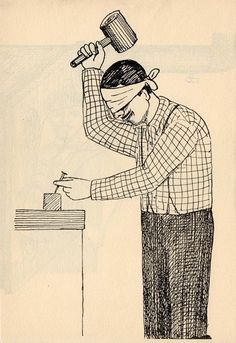 The Far Side: Roland Topor's cheerfully violent illustrations from 'Les Masochistes' | Dangerous Minds
