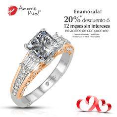 Anillo de Oro Blanco/ Rosa 14kt Diamante- Princess de 0.80 quilates.  Color- E, Claridad VS1 Precio (Pagando De Contado)- $123,144.44 pesos M.N.  *SKU Diamante- 92378 **SKU Montadura- WG1430333 ***Consulte términos y condiciones.