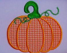 Satin Pumpkin Applique Embroidery Design