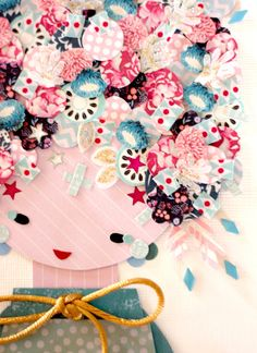 Paper Doll 023. Original Paper Collage. by KupKupLand on Etsy