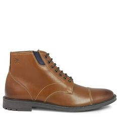 Stacy Adams Men's Dowling Cap Toe Boots (Cognac Oiled Pull-Up)