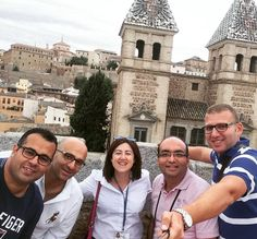 Al mal tiempo...buena cara en las alturas de #Toledo con nuestros amigos de Egipto / When the going gets tough the tough get going from above #Toledo with ours friends from Egypt. Te contamos Toledo!#todotoledo #guiasoficiales #toledoturismo #PuertaDeBisagra #EnjoyToledo #ToledoEsimpresionante by todotoledo