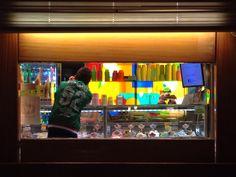 Night ice cream bar, Venice, Sep 2014