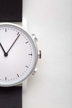 minimal watch design in black and white