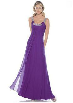 Chiffon Scoop A Line Purple Bridesmaid Dress UK1557