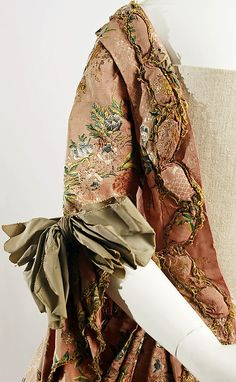 Robe à la Française    Date:      ca. 1760  Culture:      French  Medium:      silk, metal thread