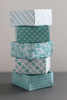 Papieren doosjes vouwen diy | Allihoppa