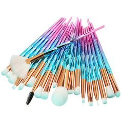 20pcs Pro Unicorn Makeup Brushes Set Face Powder Eyeshadow Lip Cosmetic Brush