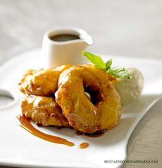 Picarones con miel (8 - 10 porciones) - Recetas de Comida Peruana