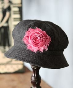 Charcoal & Pink Wool-Blend Cloche by Fancy That Hat $12.99