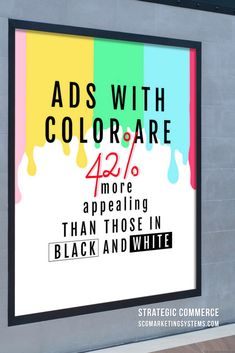 Did you know when you create ads with color, it's more appealing to the viewer than those that are in black and white? Inbound Marketing, Marketing Plan, Business Marketing, Content Marketing, Internet Marketing, Social Media Marketing, Marketing Strategies, Social Media Services, Social Media Site