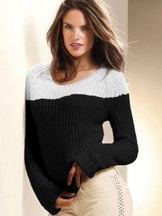 Colorblock Boyfriend Sweater #VictoriasSecret http://www.victoriassecret.com/clothing/sexy-steals-sweaters/colorblock-boyfriend-sweater?ProductID=80673=OLS?cm_mmc=pinterest-_-product-_-x-_-x