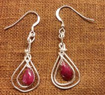Sterling silver and Ruby stones