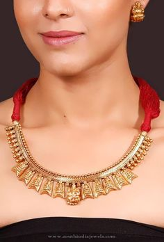 Gold Plated Antique Necklace Sets, Gold Plated Temple Jewellery Necklace Sets.