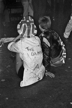 Punks taking a break from pogoing, 1977. Photograph: Derek Ridgers