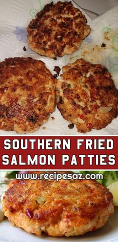 Southern Fried Salmon Patties Recipe , Ingredients and detailed directions brought to you by Recipes A to Z Canned Salmon Patties, Best Salmon Patties, Southern Salmon Patties, Fried Salmon Patties, Homemade Salmon Patties Recipe, Healthy Salmon Patties, Fish Patties, Salmon Recipes, Fish Recipes