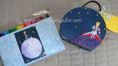 Pintura e decoupagem com tema Pequeno Príncipe. Le Petit Prince. The Little Prince artcraft    http://www.fernandareali.com/2011/03/artesanato-maletas-decoradas-e-acoes.html