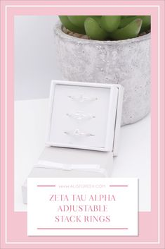 Sorority stack rings are the easiest gift for any celebration: Recruitment, Bid Day, Back to School & Big/Little. Spoil your new sorority girl with adjustable Greek letter stack rings! Zeta Tau Alpha Gifts | Zeta Tau Alpha Bid Day | ZTA Rings | Zeta Tau Alpha Jewelry | Sorority Bid Day | Sorority Recruitment | Sorority Jewelry Gifts | Sorority College Gift | Sorority New Member Gift Ideas #SororityGifts #SororityJewelry