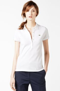 Lacoste Short Sleeve 5 Button Stretch Pique Polo : Short Sleeve