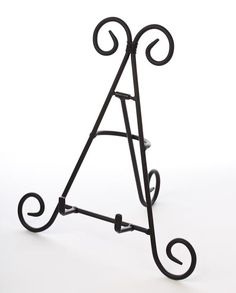 9 inch Black Wrought Iron Metal Display Easel - Decorative Plates and Stands - Home Decor