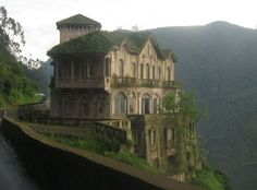 The Tequendama Falls Museum of Biodiversity and Culture is housed inside a formerly abandoned hotel on a cliff overlooking a waterfall near Bogota, Colombia.