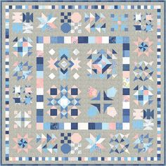 Happy Quilting: Bloom-Topia Quilt Along - Release 1 Quilt Kits, Quilt Blocks, Pattern Blocks, Quilt Patterns, Make A Wish Foundation, Sampler Quilts, Half Square Triangles, Pillow Fight, Fat Quarter Shop
