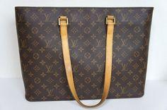 100% Authentic Louis Vuitton Monogram Luco Shopping Shoulder Tote Bag M51155   eBay