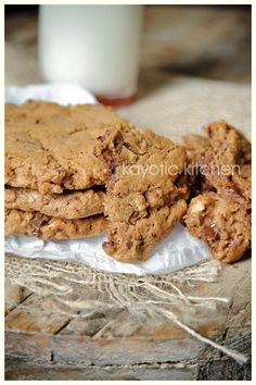 The cookies with everything: chocolate chips, raisins, walnuts, and rum!
