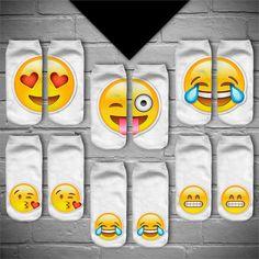 JUMEAUX 3 Paires/lot 3D Emoji Impression Expression Chaussette Femmes Hommes Chaussettes Casual Mignon Drôle Chaussettes Unisexe Low Cut Cheville Chaussette