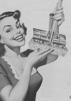The first mop you can ring without getting your hands wet! O-Cedar, 1950
