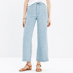 Madewell - Caron Callahan™ Stewart Pants - Brooklyn-based Caron Callahan is known for making brilliantly functional and undeniably feminine clothes. (Her promise? Everything she designs looks good with flat shoes.) These nautical-inspired cropped jeans definitely fit the bill.