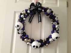 Nightmare Before Christmas Wreath by ItoFloral on Etsy, $55.00