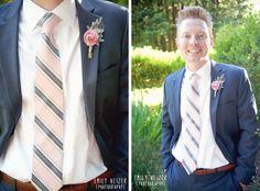 Emily Heizer Photography with Flair Sacramento, CA, Salt Lake City UT, Eugene OR Weddings: Nestldown Wedding Film in Los Gatos by Emily Heizer Photography Pink Groom Outfit