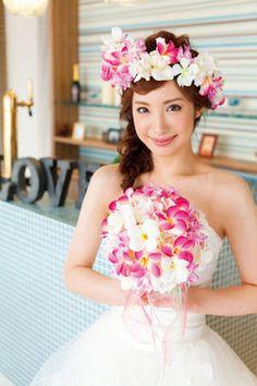 【人気№1】実例花冠の花嫁髪型画像まとめ【ウェディングドレス編】 - NAVER まとめ