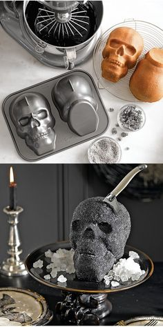 Human Skull mould to make all your gory and creepy Halloween cakes and treats. Or use to make a glamorous glitter edible skull like this one, it will definitely blow yours guests minds!
