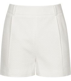 Reiss Olive Off White Waffle Texture Shorts-$180.00