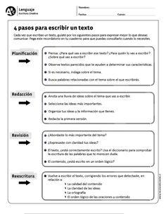 4 pasos para escribir un texto