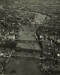 Central London England from Air in 1935 before the Blitz