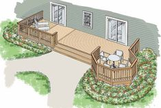 Eplans Deck Plan - A Premium House Plan Presented by Home Planners from Eplans - House Plan Code HWEPL74865