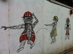 Nathan Bowen street art, London Bridge area
