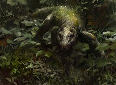 Sprouting Thrinax art by Jaime Jones