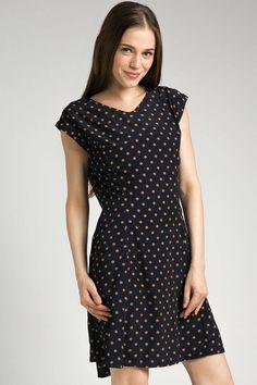 Midnight Dots Skater Dress