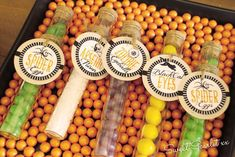Test tube favors at a Halloween party! See more party ideas at CatchMyParty.com!