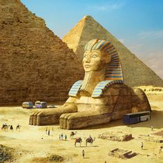 ArtStation - The Great Sphinx of Giza, Evgeny Kazantsev Ancient Egypt History, Ancient Aliens, Ancient Egypt Pyramids, Giza Egypt, Ancient Greece, Le Sphinx, Gizeh, Old Egypt, Egyptian Art