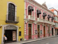 Merida Mexico Colorful Buildings....I went at Christmas time....AMAZING !