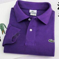Lacoste Polo Long Sleeve Classic Shirt Purple   #CheapLacoste #CheapLacosteLongSleeve #Polos #LacostePolos #LacostePoloShirts #StylishLacosteShirts #LacosteForCheap